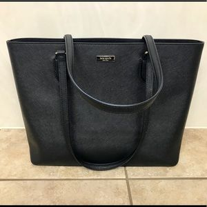 ♠️Kate Spade  Black Leather Tote